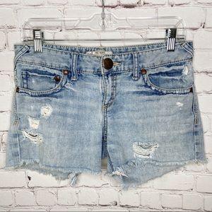 Free People Distressed Denim Cutoff Shorts Size 27